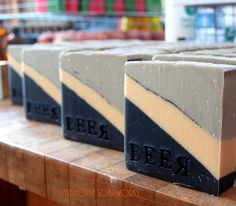 Beer Soap #2 Just sliced and stamped one side..other side will be stamped with my logo in a little while...