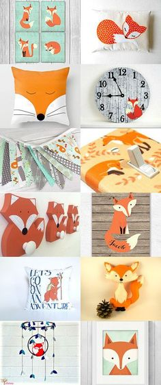 Fox baby nursery by Ashley G on Etsy--Pinned with TreasuryPin.com