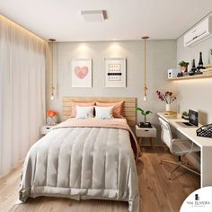 23 small bedroom ideas that are look stylishly & space saving 00006 Bedroom Decor For Teen Girls, Room Ideas Bedroom, Small Room Bedroom, Home Decor Bedroom, Modern Teen Bedrooms, Tiny Bedroom Design, Small Room Design, Home Room Design, Stylish Bedroom