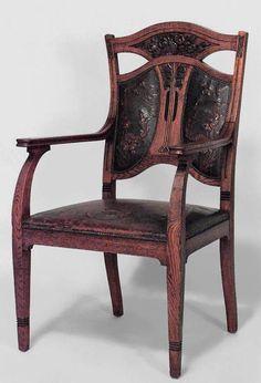 Art Nouveau Art Nouveau seating chair/set oak