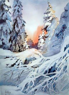 Aud Rye (461x640, 217Kb) Снег норвежского художника Aud Rye яркий и плотный