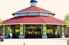 The 2006 Carousel Works Carousel at Brookfield Zoo Brookfield, IL Illinois, Brookfield Zoo, Carousels, Carousel Horses, Far Away, North America, Gazebo, Chicago, Outdoor Structures