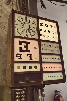 Vintage eye chart..i could put a small version in my long light box