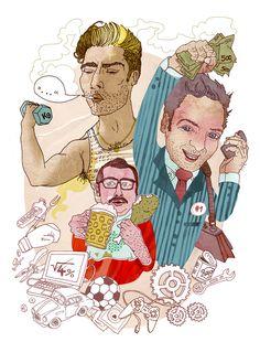 editorial illustration for Schwäbische Zeitung: male gender cliches www.illuninare.de