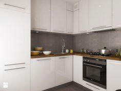 Biała kuchnia - Średnia kuchnia w kształcie litery l, styl nowoczesny - zdjęcie od SO INTERIORS Architektura Wnętrz