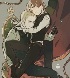 Hetalia - GerIta❤️<--- I think there is a similar picture with me an Lovi pero this picture is so cool~