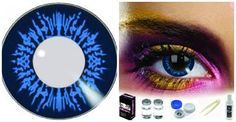 These Edit Big Circle Eye Cool Blue Coloured Contacts are coloured contact lenses with a difference.