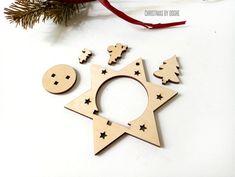 Cinta de arco de Madera de Forma de MDF de corte láser Artes Artesanía Decoración Navidad MDF Ideas de Regalos