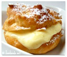 Cream Puffs with Vanilla Bean Pastry Cream Recipe Valentine's Day momspark.net