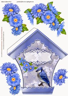 bird box Christmas Sheets, Christmas Cards, Image 3d, Decoupage Printables, Free Printables, Christmas Decoupage, 3d Sheets, 3d Paper Crafts, Parchment Craft