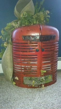 Old tractor front turned night light