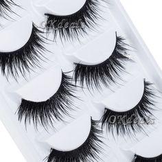 Beauty Thick 5 Pairs Makeup False Eyelashes Long Handmade Eye Lashes Extension.   eBay