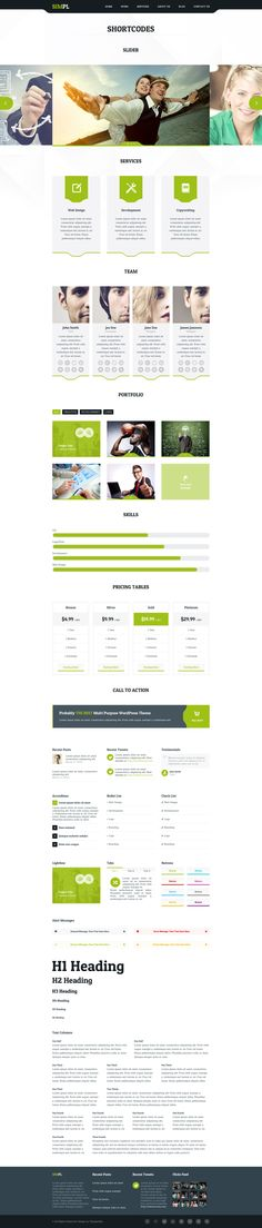 SIMPL - Clean Modern Portfolio & Business Template  #design #webdesign #template #web #graphic #psd #photoshop #website #clean #modern #portfolio
