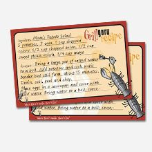 BBQ Recipe Cards  Grill masters will love these handy recipe cards to write down their tasty BBQ creations.