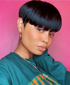 Natural Hair Short Cuts, Natural Hair Styles For Black Women, Short Hair With Bangs, Wigs For Black Women, Short Hair Cuts, Pixie Cuts, Short Hair Lengths, Short Haircut Styles, Short Pixie Haircuts