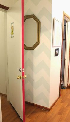 Paint the edges of doors for a surprise pop of color