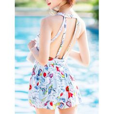 strappy one piece bathing suit| $17.03  kawaii harajuku hipster bathing suit swimwear fachin swimsuit under20 under30 rosewholesale