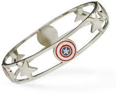 ThinkGeek :: Captain America Bangle Bracelet