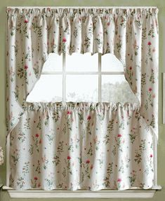 Home Decor Window Treatment Kitchen Valance Drapery Blue White Premier Print 2 pc PAIR of Curtain Drape Panels GOTCHA