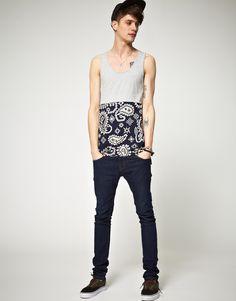 cool tanktop!  /Christopher Shannon Kidda Paisley Print Vest  #fashion #menswear