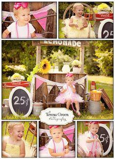 Too cute!! Lemonade Stand Photo Session