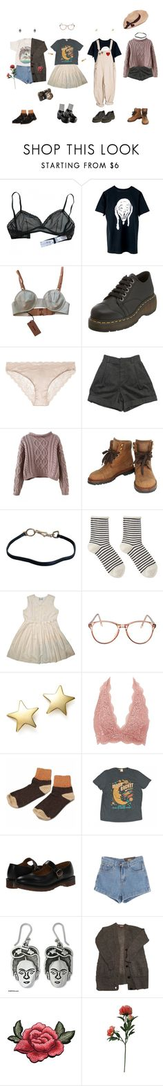 """""""picnic gang"""" by rosebuscemi ❤ liked on Polyvore featuring Miu Miu, Dr. Martens, STELLA McCARTNEY, Chloé, Chanel, Prada, Hansel from Basel, American Apparel, Bloomingdale's and Charlotte Russe"""