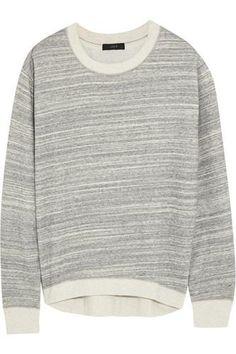 Cotton-blend jersey sweatshirt #jerseyshirt #offduty #covetme #j.crew