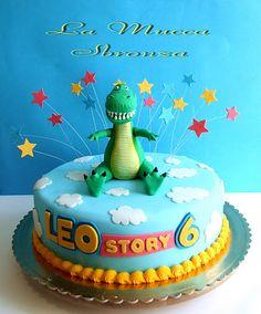 Ideas for toys story cake rex Bolo Toy Story, Toy Story Cakes, Cumple Toy Story, Festa Toy Story, Toy Story Theme, Toy Story Party, Dinosaur Cake, Dinosaur Birthday, 4th Birthday