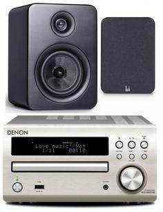 Denon DM40DAB Mini System Silver inc Roth OLi RA1 (Black Speakers)