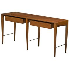 Gio Ponti Console Table for Singer & Sons | From a unique collection of antique and modern console tables at https://www.1stdibs.com/furniture/tables/console-tables/