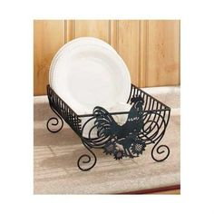 Dish Drying Rack Plates Drainer Kitchen Holder Storage Iron Scroll Design Dryer   | eBay