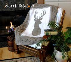 Deerly Beloved Blanket - Crochet Pattern - Sweet Potato 3                                                                                                                                                                                 More