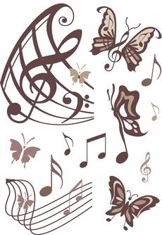 Music and butterfly's its like a dream come true