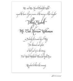 Calligraphy Invitation | Taste Buds on the Avenue