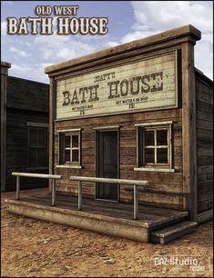 Old West Bath House in Vendor, Jack Tomalin,  3D Models by Daz 3D