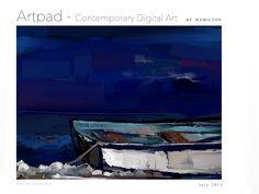 Bote em Noite Azul