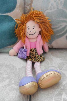RAGDOLL with HANDBAG soft toy rag doll JELLYCAT Jelly Cat J94, leopard skirt