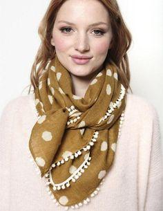 Des Petits Hauts Sonette silk scarf - lime - Feather & Stitch