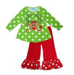 2017 New Year Christmas clothes for girls Winter Peas Elk Pattern Kids Clothes Cotton Baby Clothes Christmas Party Costume Kids Christmas Outfits, Toddler Christmas, Kids Outfits, Christmas Clothes, Christmas Deer, Christmas Costumes, Christmas Holidays, Toddler Boutique, Deer Costume