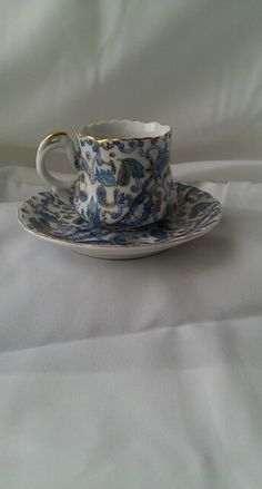 Vintage made in Occupied Japan paisley tea cup and saucer