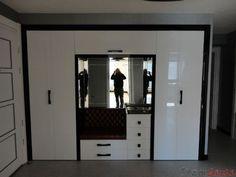 aynalı büyük yeni modern şık vestiyer dolap modelleri 2012