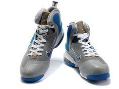 official photos a3c5e ade80 Nike LeBron 9 Cool Grey Blue White Metallic Silver,Style code 469764-007