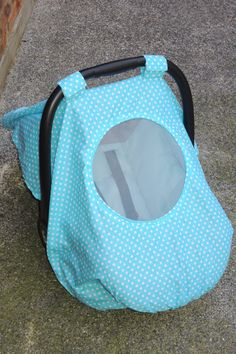 Infant car seat canopy tent with mesh window. by TheYellowPacifier, $22.00