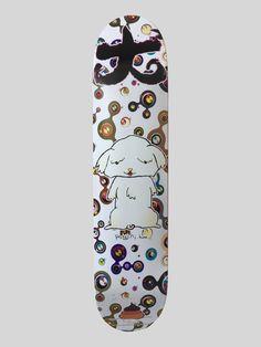 Takashi Murakami | Supreme Skate Deck (2007) | Available for Sale | Artsy Skate Decks, Skateboard Decks, Takashi Murakami, Supreme, Screen Printing, Artsy, Artwork, Skateboards, Screen Printing Press