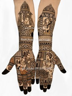 Top 35 Bridal Mehndi designs for full hands and legs For Women 2019 – My Stylish Zoo Latest Mehndi Designs Hands, New Mehndi Designs Images, Latest Bridal Mehndi Designs, Stylish Mehndi Designs, Mehndi Design Pictures, Wedding Mehndi Designs, Beautiful Henna Designs, Dulhan Mehndi Designs, Mehndi Images