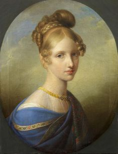 Archduchess Clementina of Austria (1798-1881), Princess of Salerno. Portrait 1839-1840