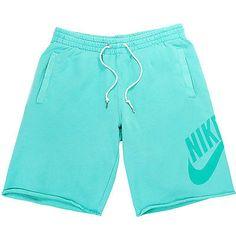 Nike Hbr Ft Washed Short Mens 521895-395 Sport Turquoise Shorts Activewear Sz XL