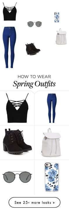 """A spring outfit and accessories"" by blondeness21 on Polyvore featuring Boohoo, Red Herring, Aéropostale, Ray-Ban and Casetify"
