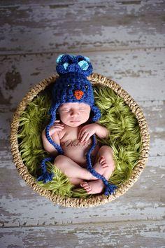 Baby Hat, Crochet Newborn Bird Peacock Ear Flap Hat, Crochet Newborn Photography Prop, Holiday, Halloween by AllHookdUp on Etsy https://www.etsy.com/listing/108058549/baby-hat-crochet-newborn-bird-peacock