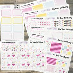 It's Your Birthday weekly kit for Erin Condren and Happy Planner Classic vertical layouts  use ROXYSENTME for 20% off and a freebie!